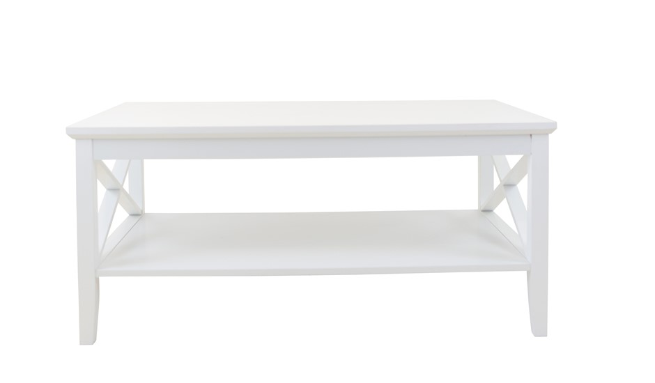 Long Island 1 Shelf Coffee Table - White
