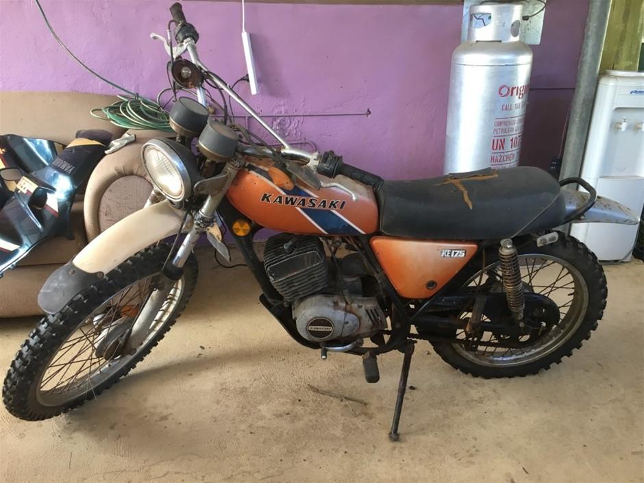 1975 Kawasaki KE175 Motorcycle Auction (0008-9013171