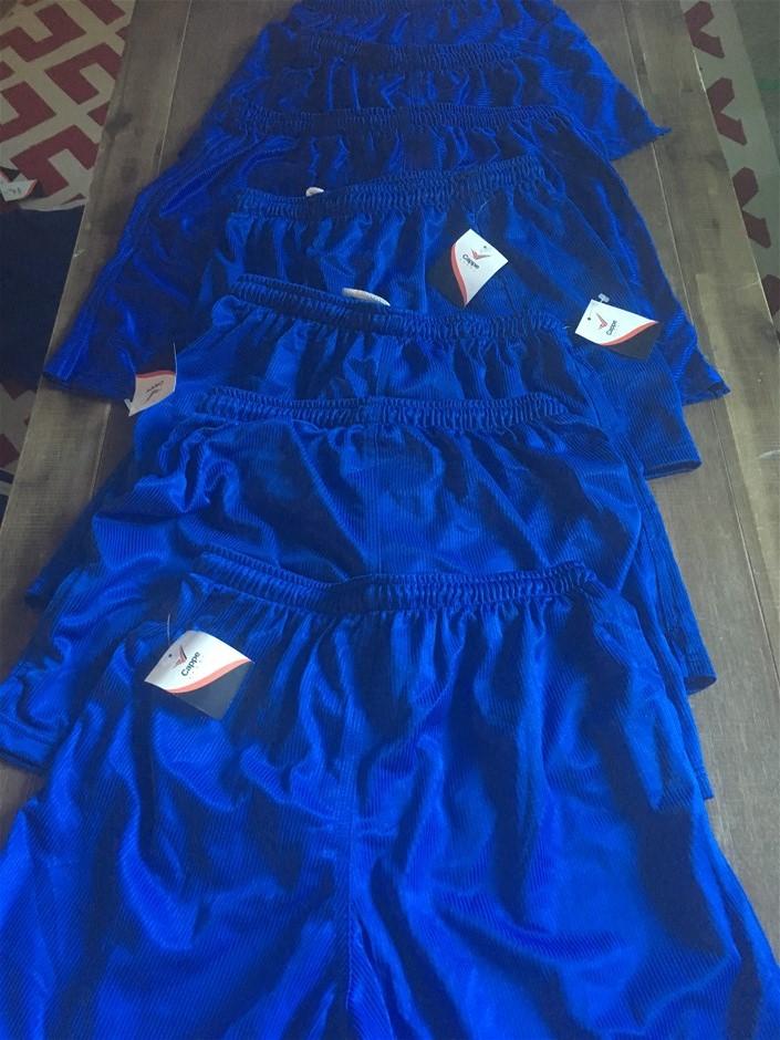7 x Cappe Sports Shorts, Cowboys, Colour Royal Blue Mixed Sizes