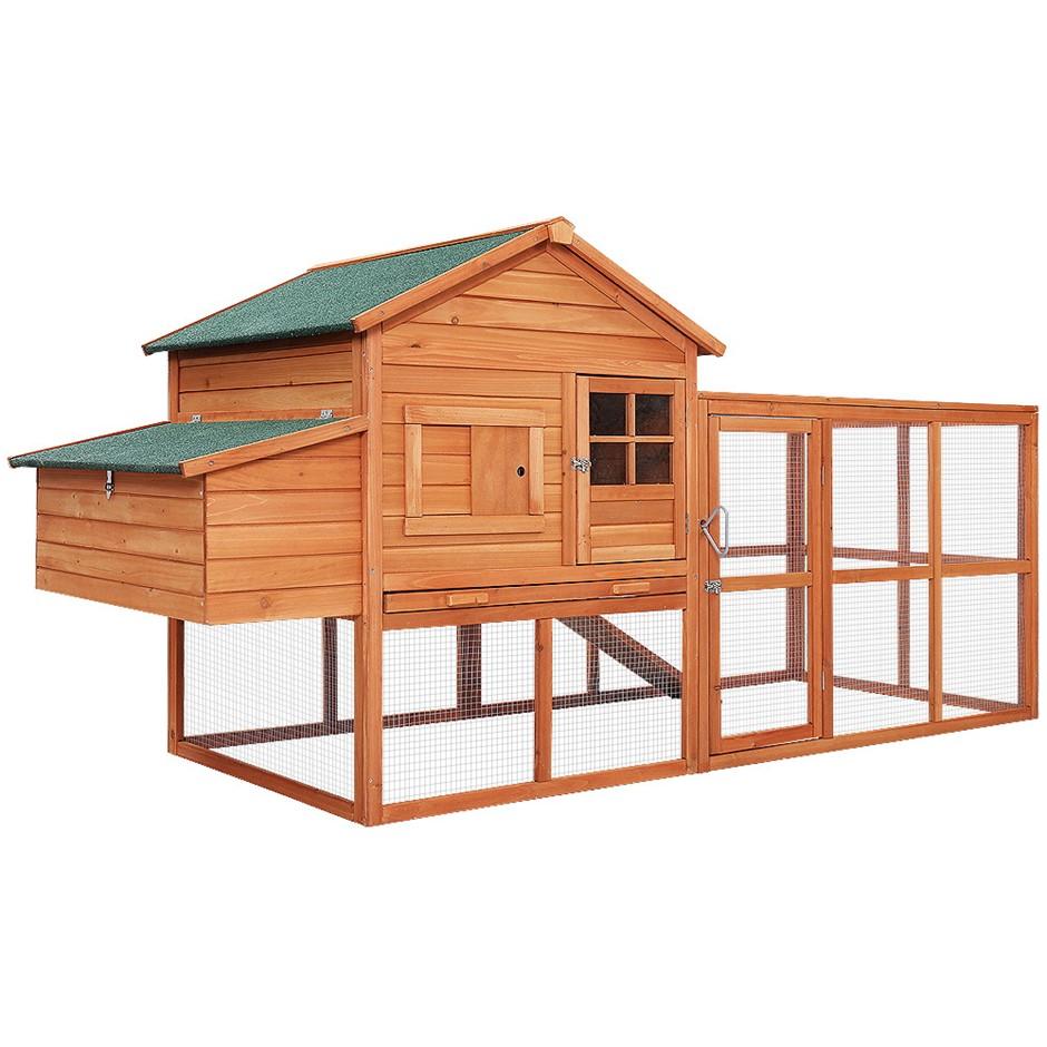 i.Pet Chicken Coop Coops Wooden Rabbit Hutch Hen Chook House Ferret Run XL