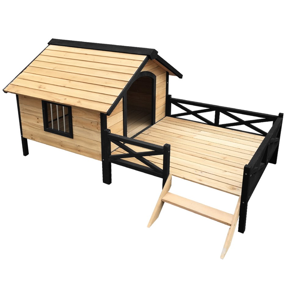i.Pet Dog Kennel Kennels Outdoor Wooden Pet Puppy Extra Large XXL Outside