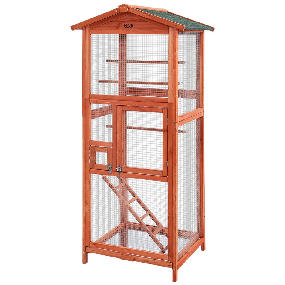 i.Pet Bird Cage Wooden Pet Cages Aviary Large Carrier Cockatoo Parrot XL