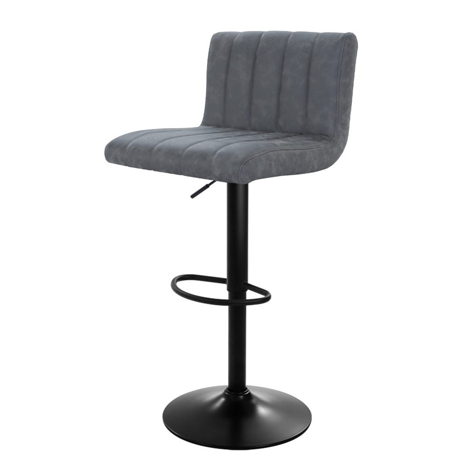 Artiss 2x Kitchen Bar Stools Swivel Vintage Stool Leather Gas Lift Chairs