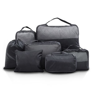 Wanderlite 7PCS Dark Grey Packing Cubes