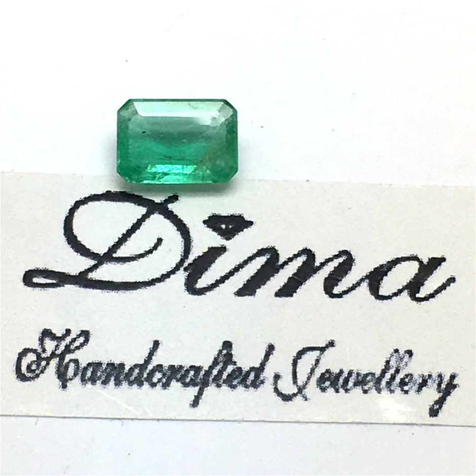 One Stone Emerald 0.71ct in Total