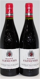 St Clementine Chateauneuf Du Pape 2014 (2x 750ml), France. Cork