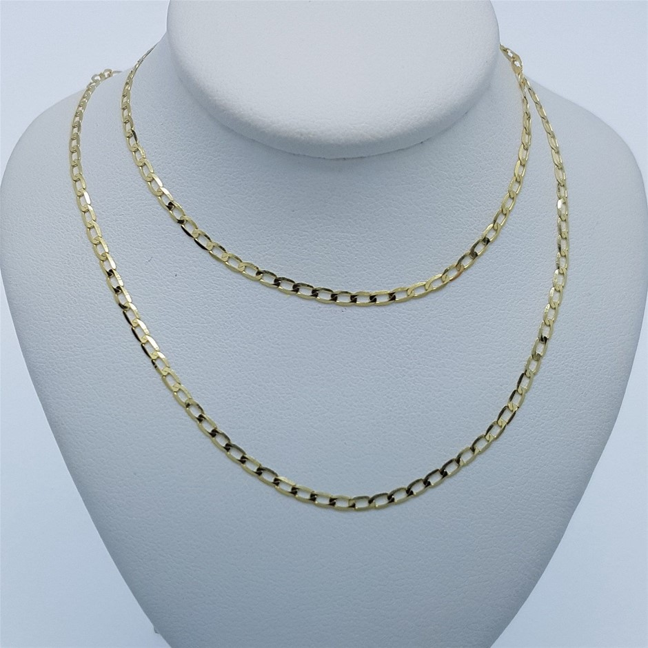 9ct Yellow Gold, 1.25g Italian Solid Chain Necklace
