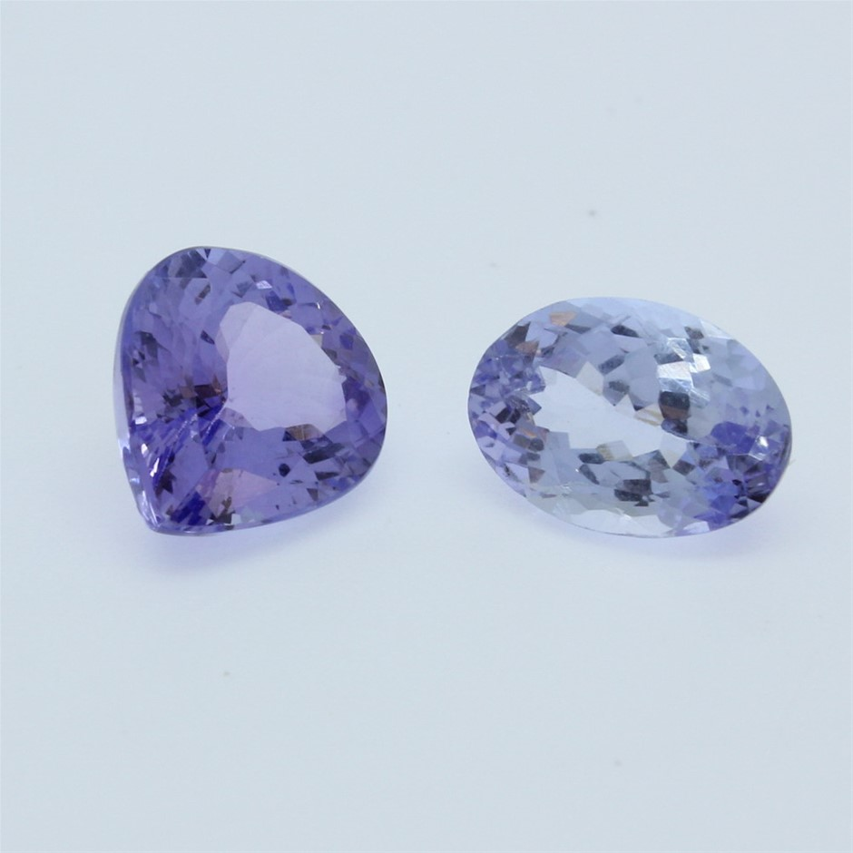 Two Loose Tanzanite, 7.25ct in Total