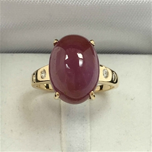 18ct Yellow Gold, 12.18ct Ruby and Diamo