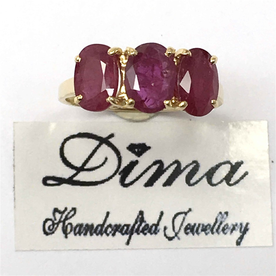 18ct Yellow Gold, 3.38ct Ruby Ring