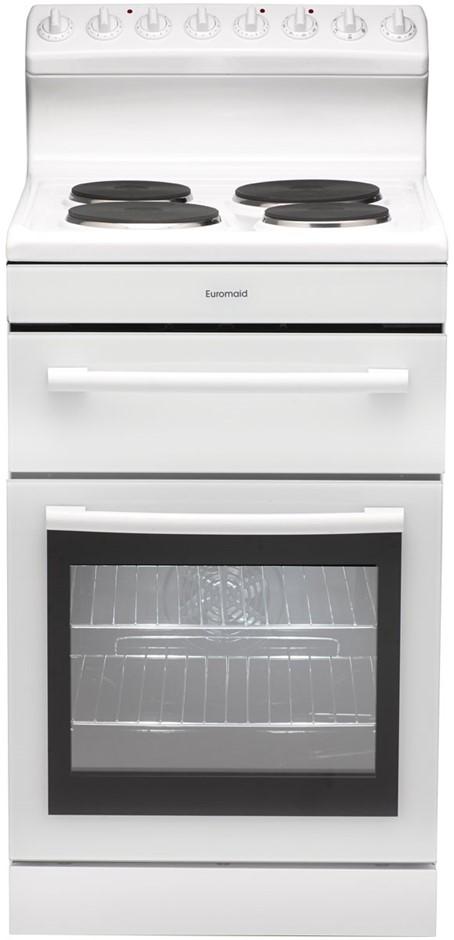 Euromaid 54cm Freestanding Cooker (White) (R54EW)