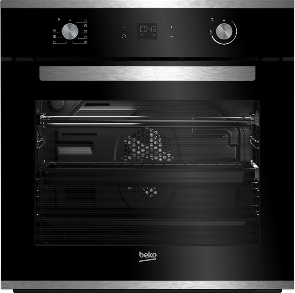 Beko 82L Multifunction Built-in Oven with Pyrolytic Cleaning (BBO60S1PB)