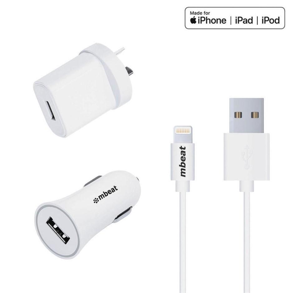 mbeat MB-WCS-02 3-in-1 MFI USB Lightning Charging Kit