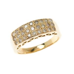 18ct Yellow Gold, 1.08ct Diamond Ring