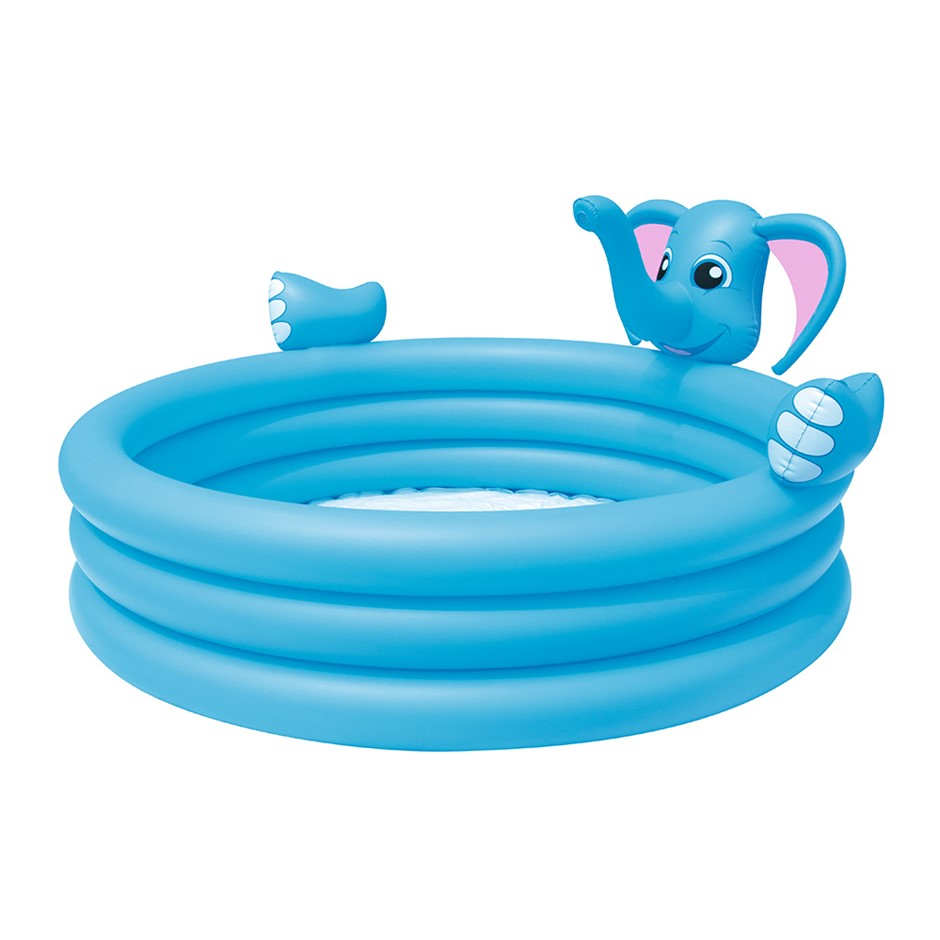 Bestway Inflatable Kids Play Pool 3 Ring Elephant Spray Splash Pool Toy