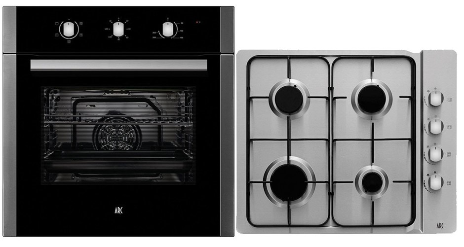 Arc 60cm Electric Oven & 60cm Gas Cooktop Pack ACPG2