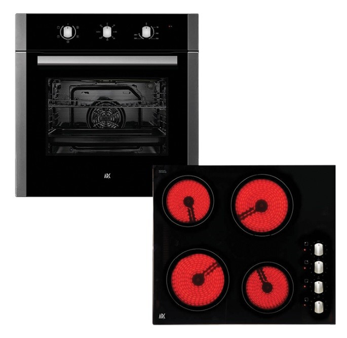 Arc ACPC Multifunction Oven & Ceramic Cooktop Pack