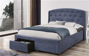 Queen Size Storage Bed Frame Upholtery N