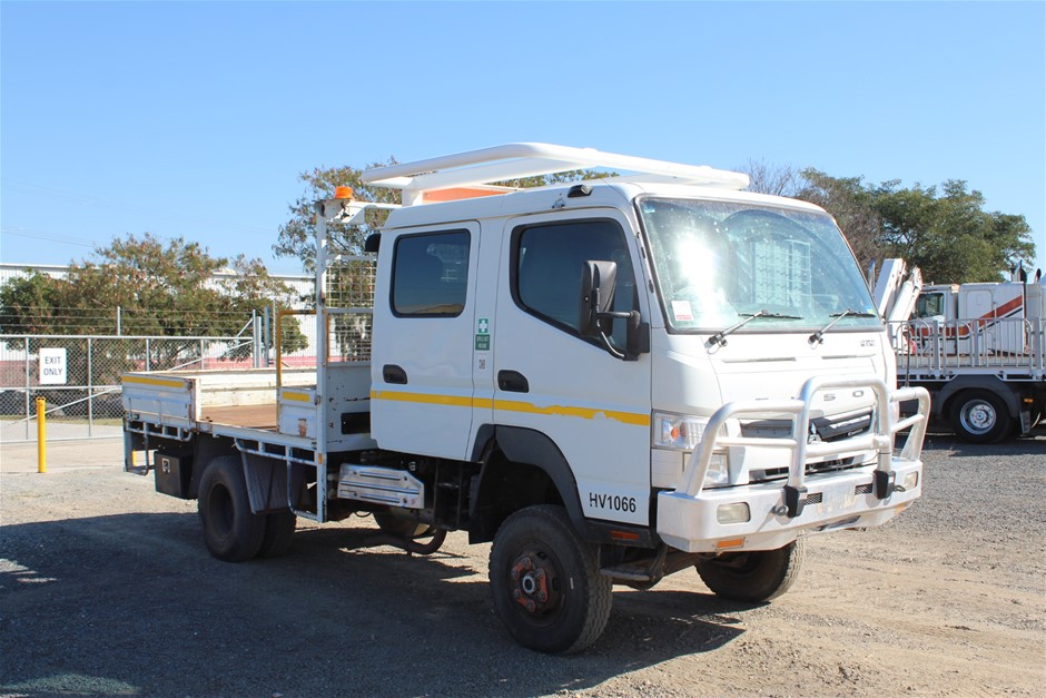 2012 Mitsubishi Fuso 4 x 4 Tray Body Truck