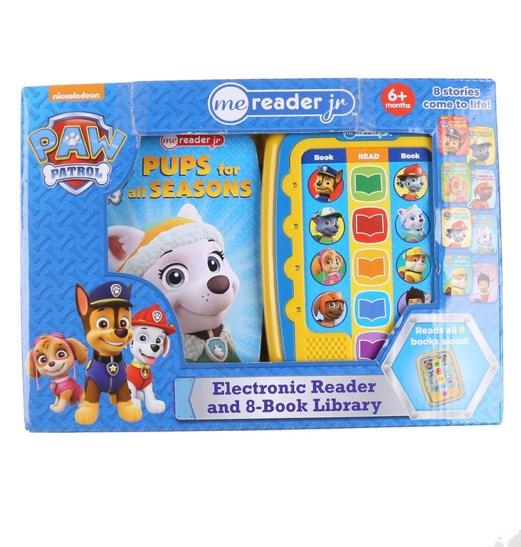 PAW PATROL Electronic Reader & 8 x Book Library. Buyers Note - Discount Fre