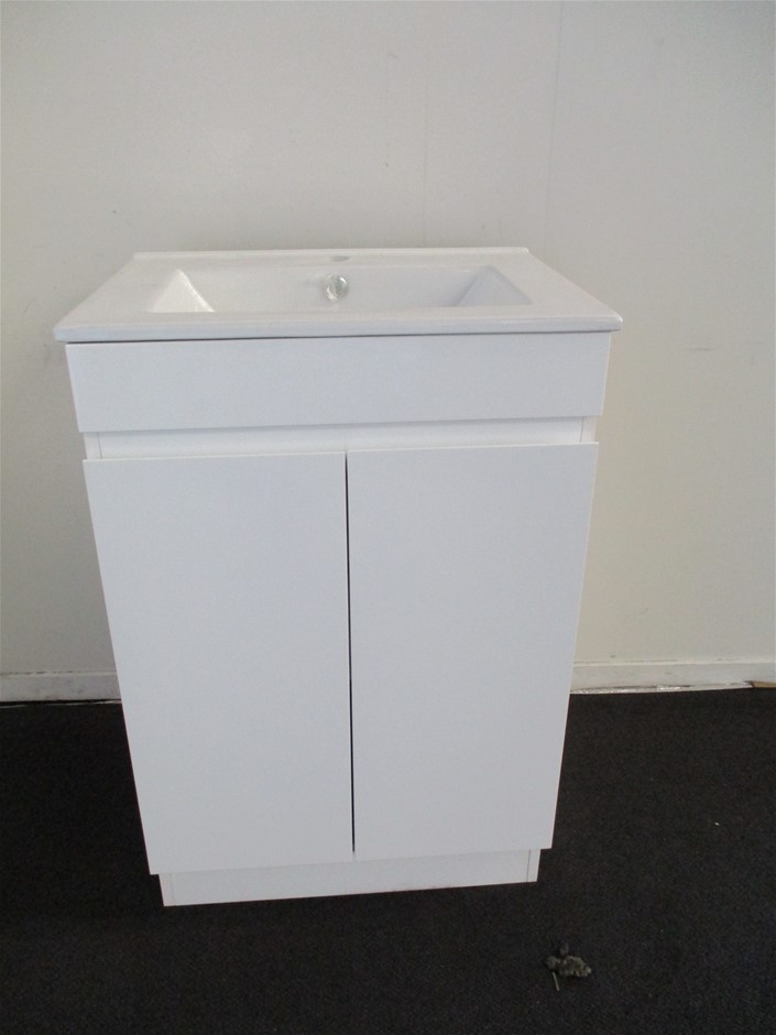 Qty 4 x Bathroom Vanity Cabinet with Sink