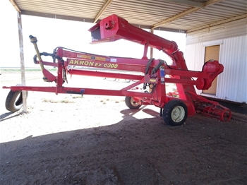 Akron EXG 300 Grain Bag Unloader and Mainero 2235 Bagger