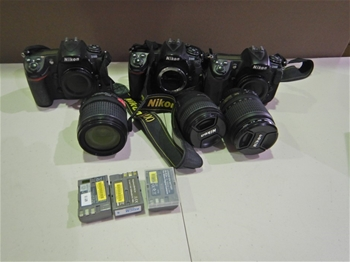 A Large Qty of Nikon Digital SLR Cameras