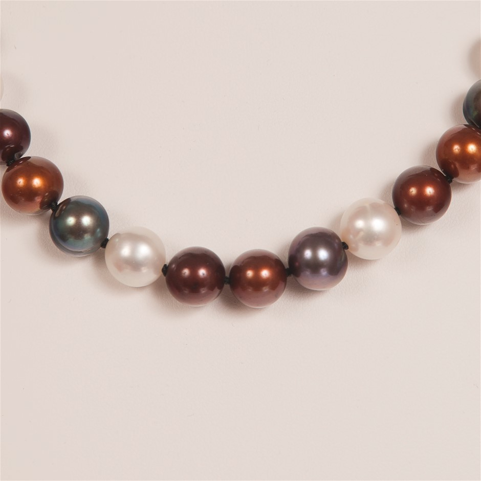 Single Strand Multi Colour Freshwater Pearl Bracelet
