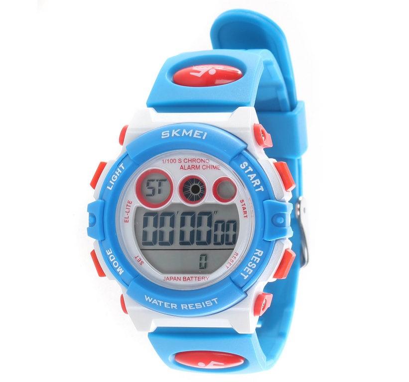 SKMEI KID`S Digital Watch PU band, 38mm Dial Width, Water Resistant to 50M,