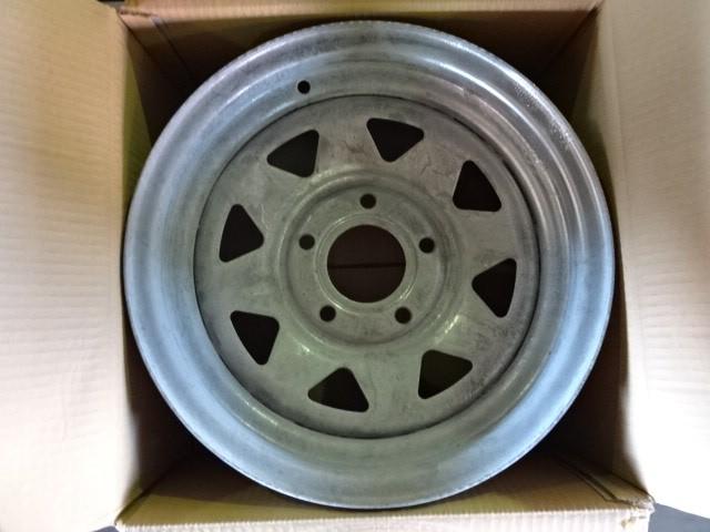 A Set of Galvanised Rims, Gecko Wheels brand