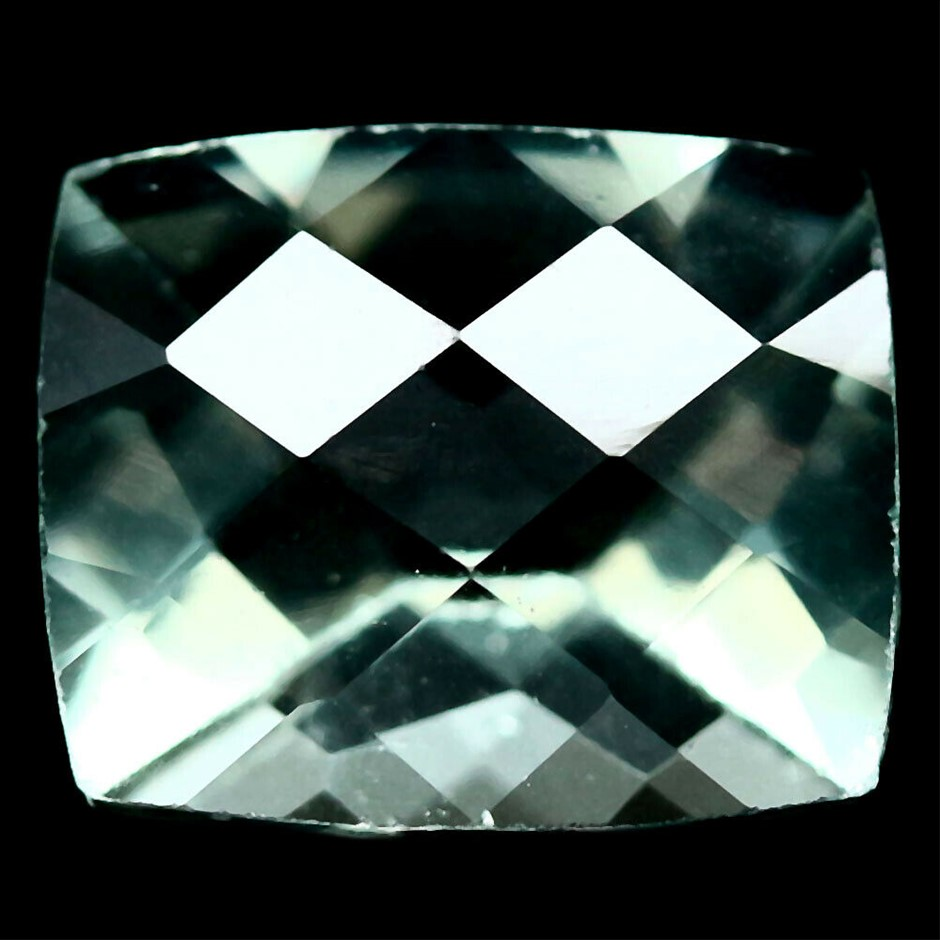 6.44 ct. Cushion with Checker Board Table Green Fluorite