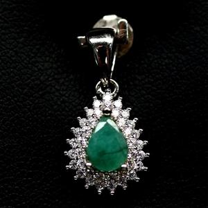Beautiful Genuine emerald pendant.