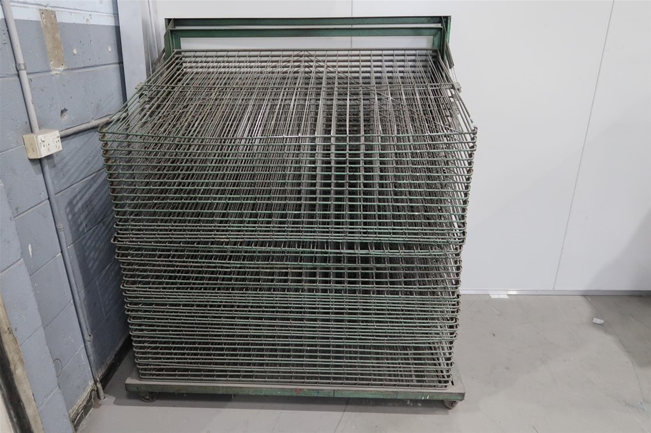 Screen Printing Drying Rack Approx 1500 x 1330 x 900mm 50 Shelves