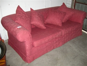 Red 2 Half Seater Sofa Bed As New Auction 0092 3000118 Graysonline Australia