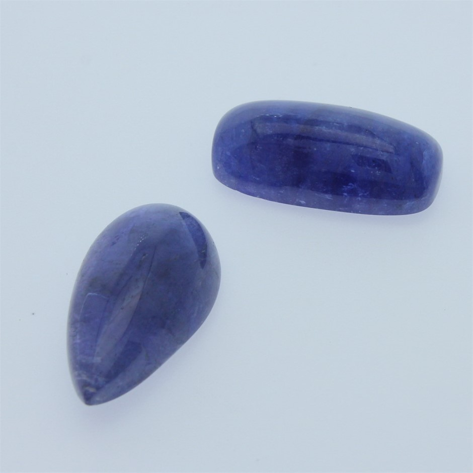 Two Loose Tanzanite, 50.60ct in Total