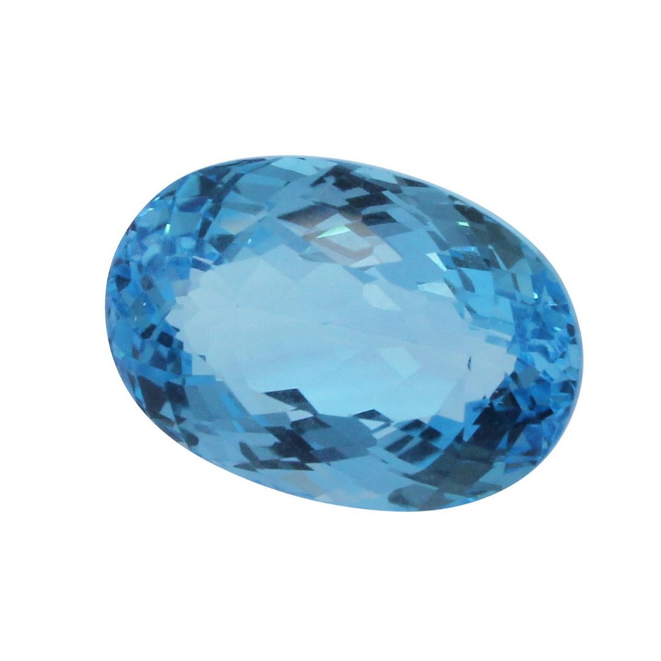 One Loose Blue Topaz, 33.90ct in Total