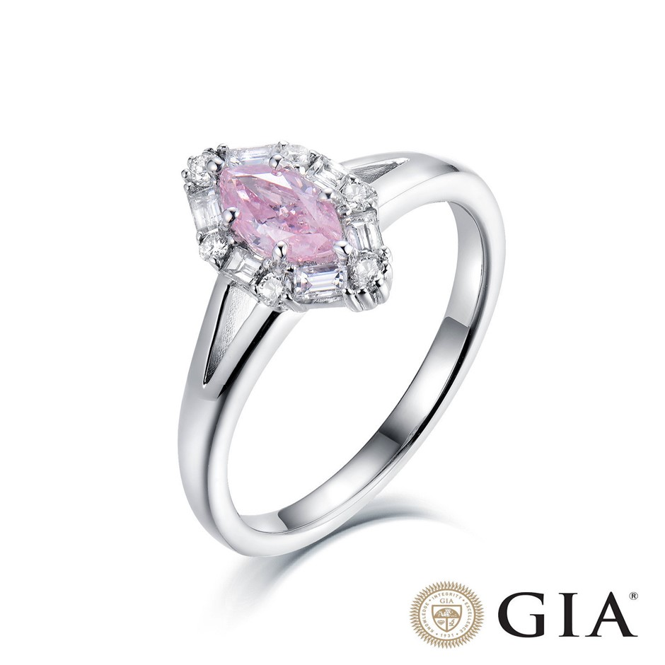 18ct White Gold, 0.73ct GIA Pink Diamond Engagement Ring