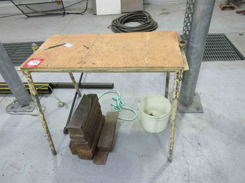 2 Steel Frame Work Benches