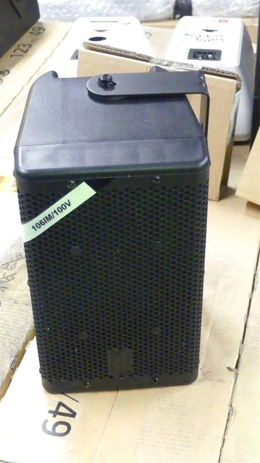 Qty 2 x One Systems 106iM100 in Black Full Range speaker