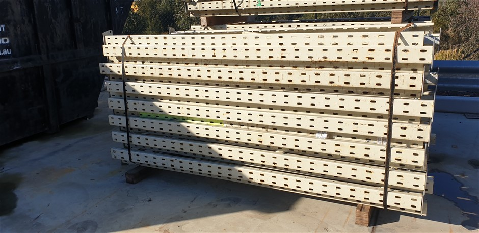 18 Pallet spaces of shelving,