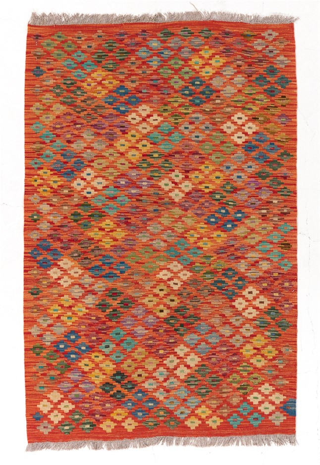 Hand Knotted Flat Weave Kiulim Rug Size (cm): 100 x 153