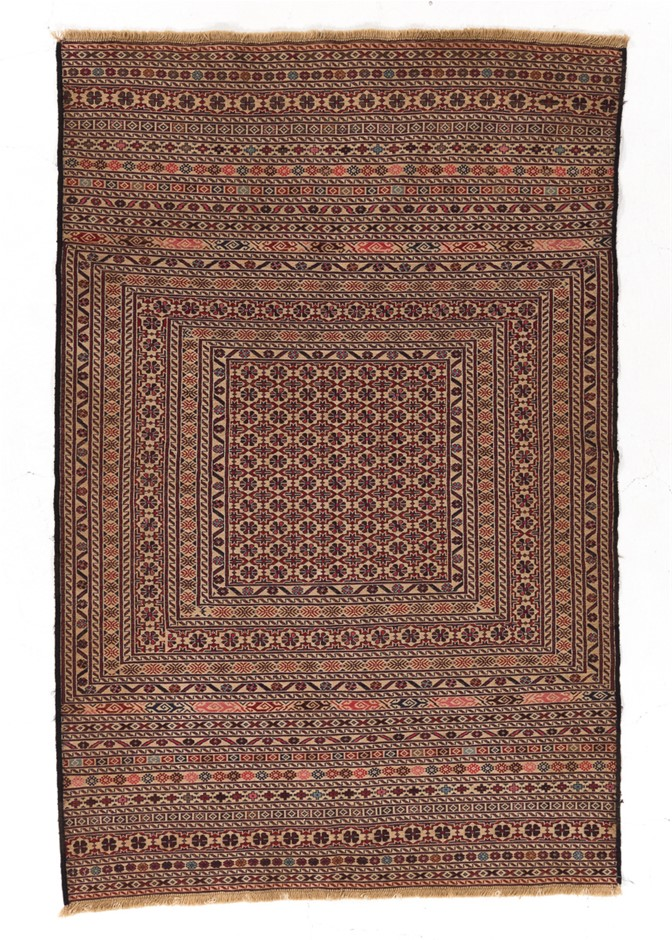 Soumak Flat Weave Hand Knotted Wool Rug Size (cm): 120 x 180