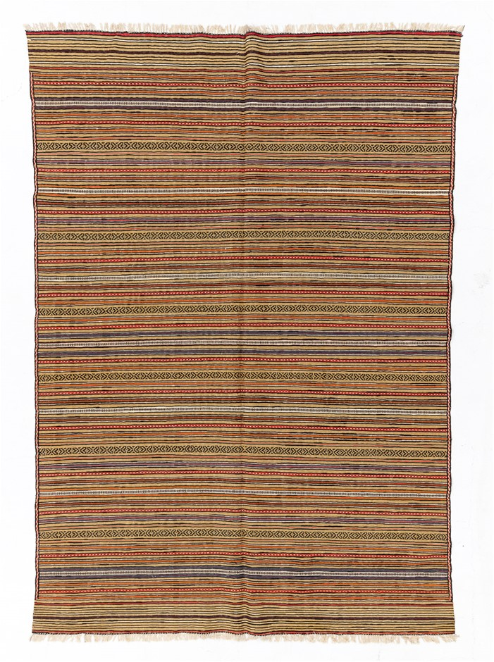 Soumak Flat Weave Hand Knotted Wool Rug Size (cm): 195 x 265