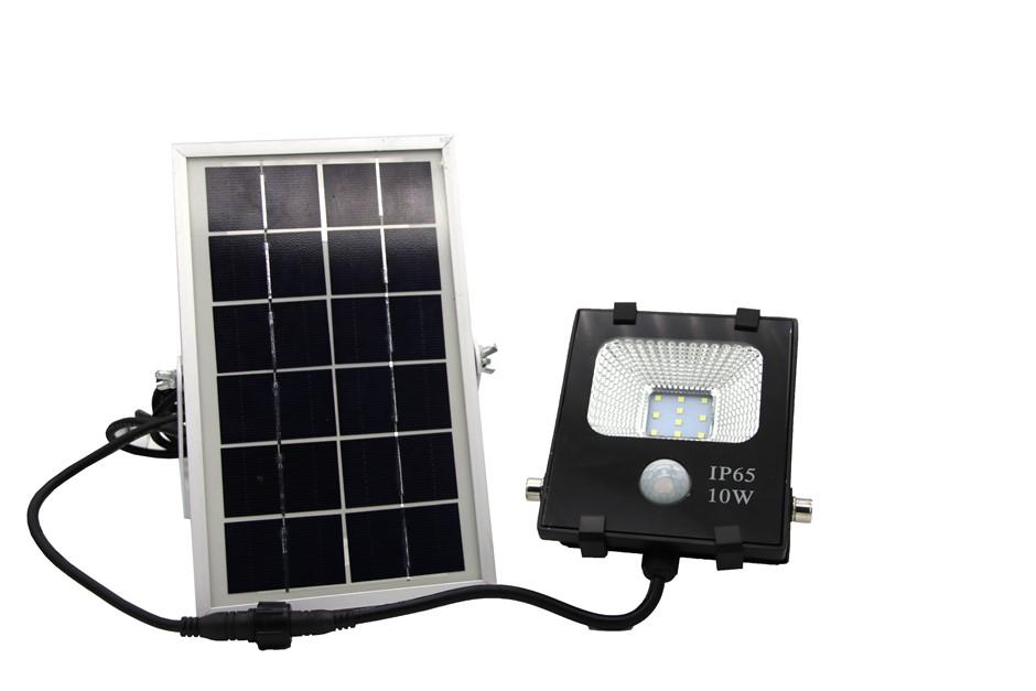10W LED Solar Sensor Light Security Garden Flood Light