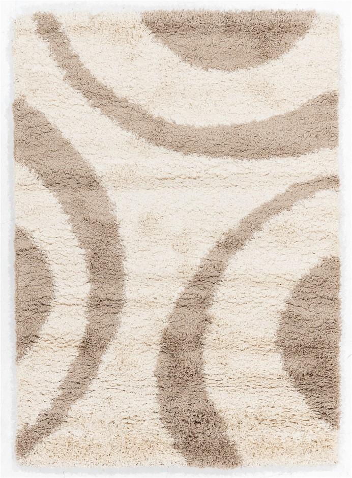 Machine Made Shaggy Pile Floor Rug - Size (cm) : 160 x 230