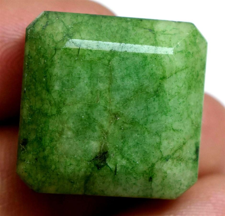 44.50 ct. Emerald Cut Green Emerald