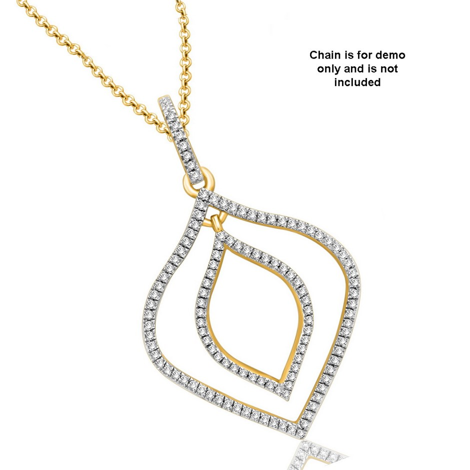 9ct Yellow Gold, 0.19ct Diamond Pendant