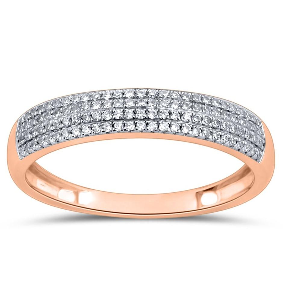 9ct Rose Gold, 0.16ct Diamond Ring