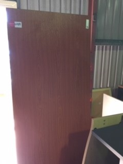 Office Desk With Return - Brown Laminate
