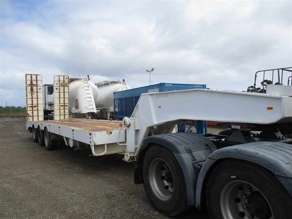 2009 BORG Tri-axle Float Triaxle Widening Low Loader Dolly Trailer